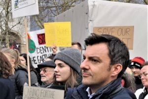 Martin Staudinger auf einer Demo: #FridaysForFuture