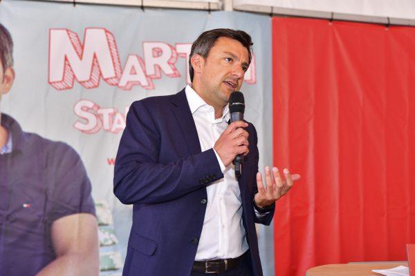 Dr. Martin Staudinger am 1. Mai 2019 im Festzelt am Hafen in Bregenz